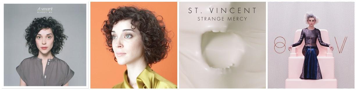 St Vincent Album Covers