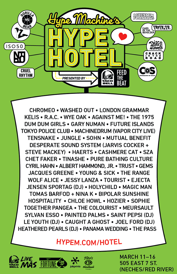 hypem Top 12 Parties at SXSW 2014