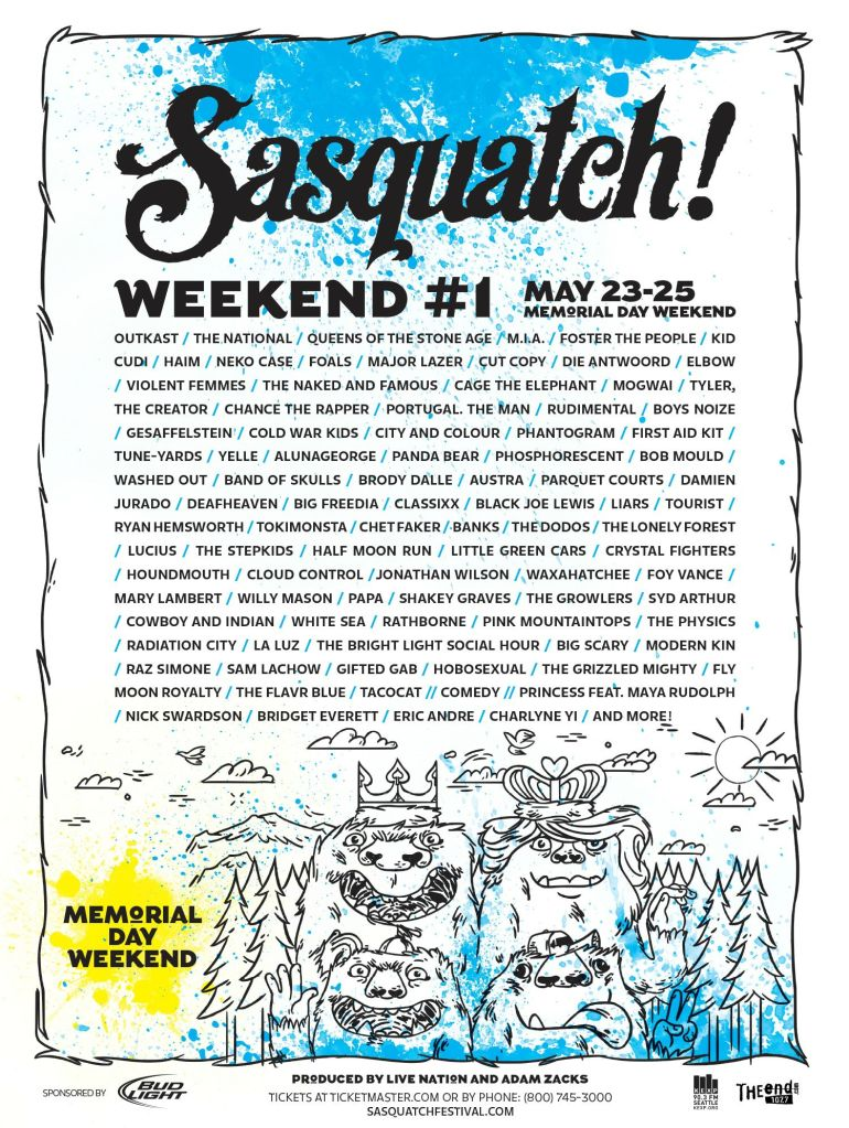 sasquatch Top 10 Music Festivals in North America: Spring 2014 Power Rankings