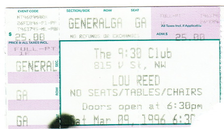 930 club lou reed