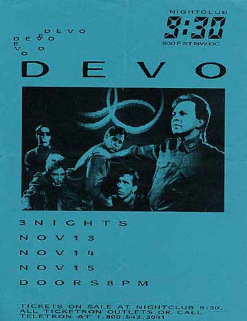 930club flyer nov88 All Access: An Oral History of DCs 9:30 Club