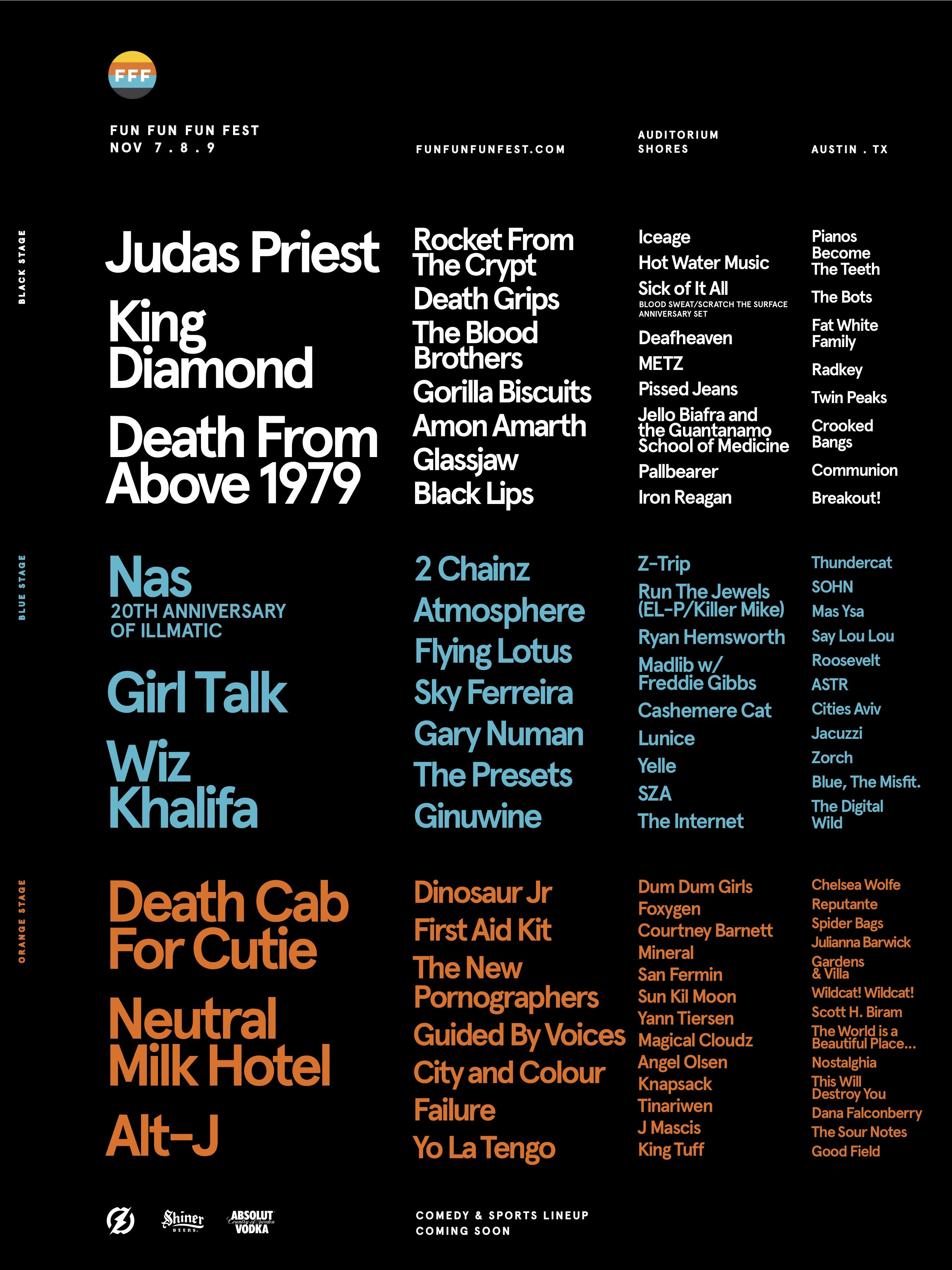Fun Fun Fun Fest 2014 lineup poster
