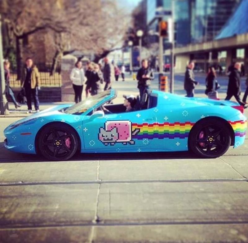 Deadmau5 Is Selling His Nyan Cat Ferrari On Craigslist And It Ll Only Cost You For 380 000 Consequence Of Sound