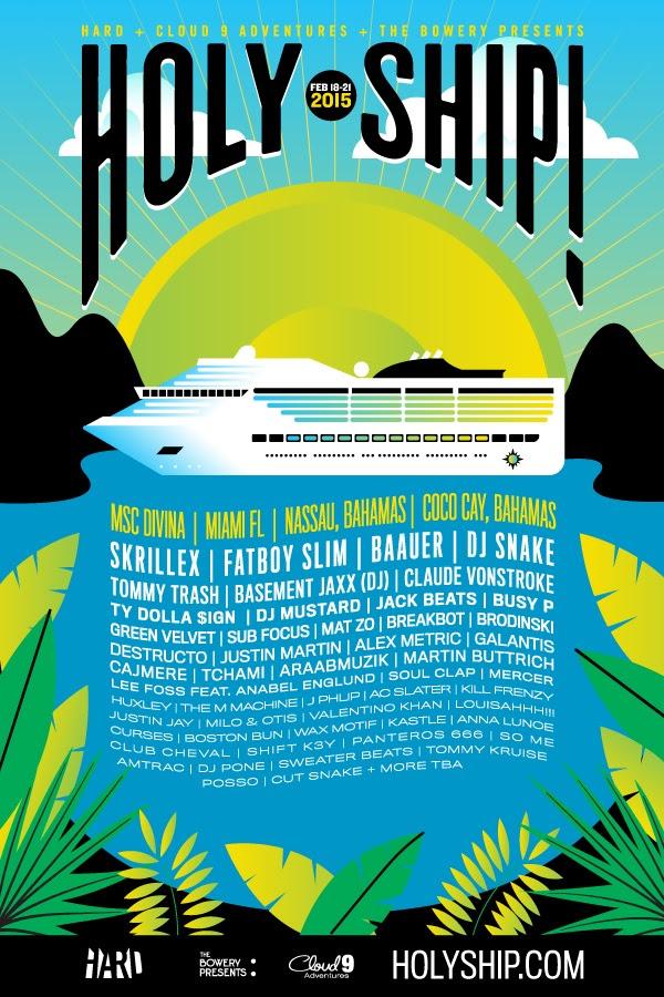 holy ship february lineup