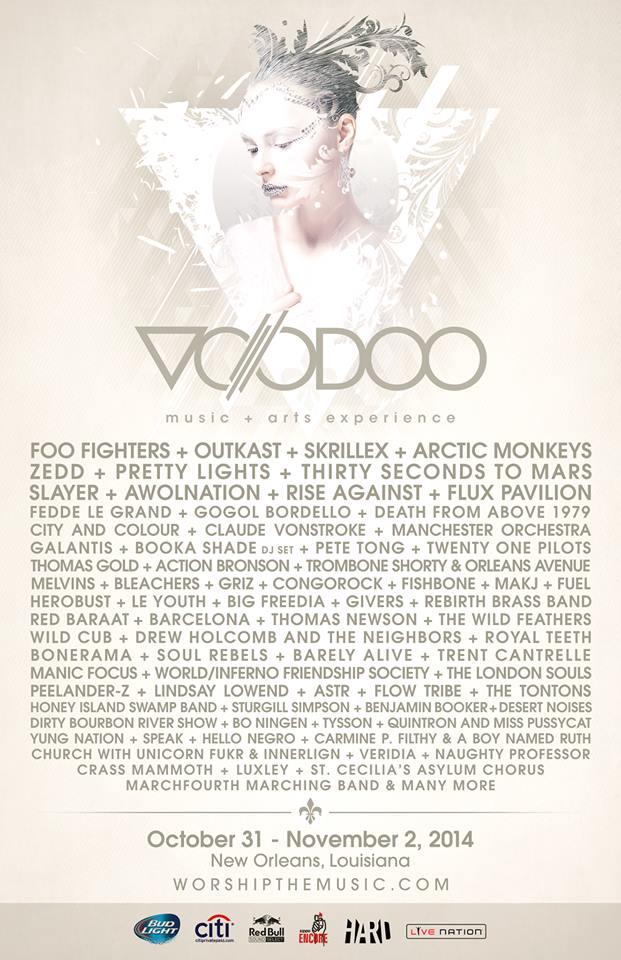 voodoo experience 2014 lineup