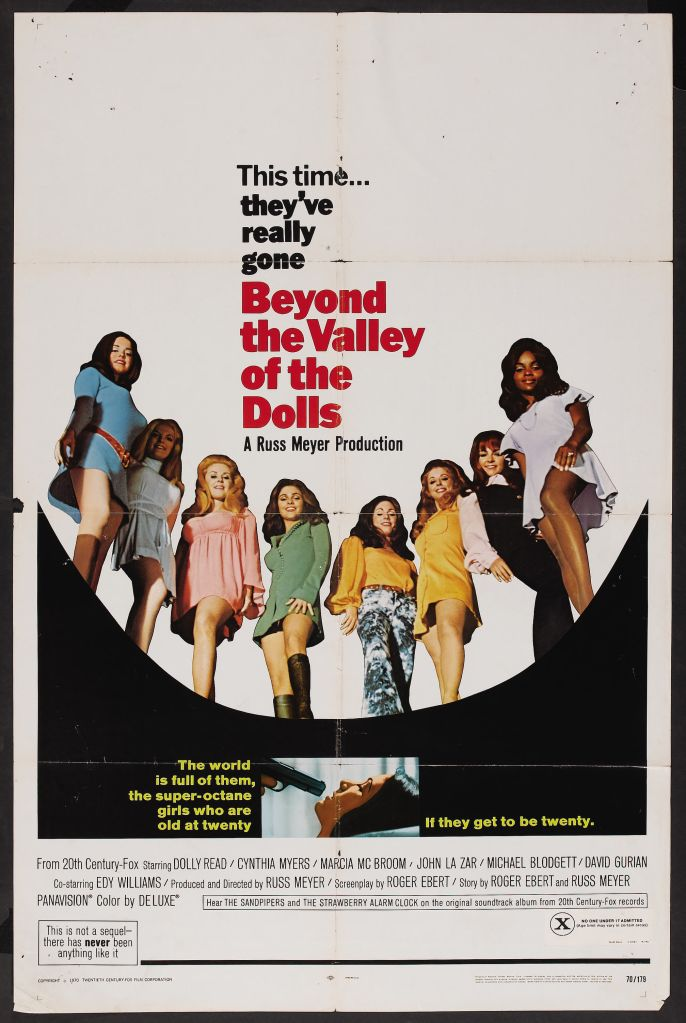 beyond valley of the dolls How Roger Eberts Beyond the Valley of the Dolls Twisted The Hollywood Musical