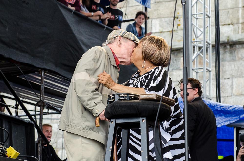George Wein and Mavis Staples