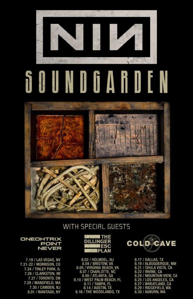 nin soundgarden tour poster