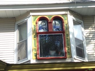 Stinson House Stained Glass Mural // Photo by Michael Roffman