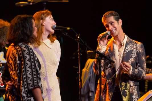 Norah Jones, Karen Elson, and Perry Farrell // Photo by Philip Cosores