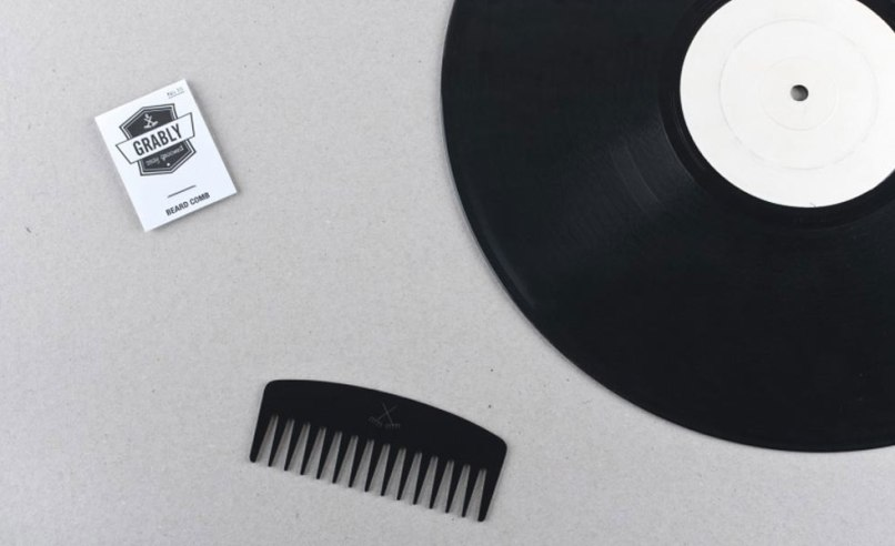 grably002 Go full hipster and buy a beard comb made of vinyl records