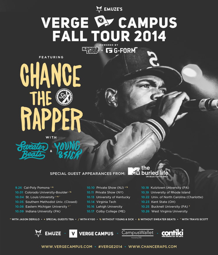 verge chance tour poster