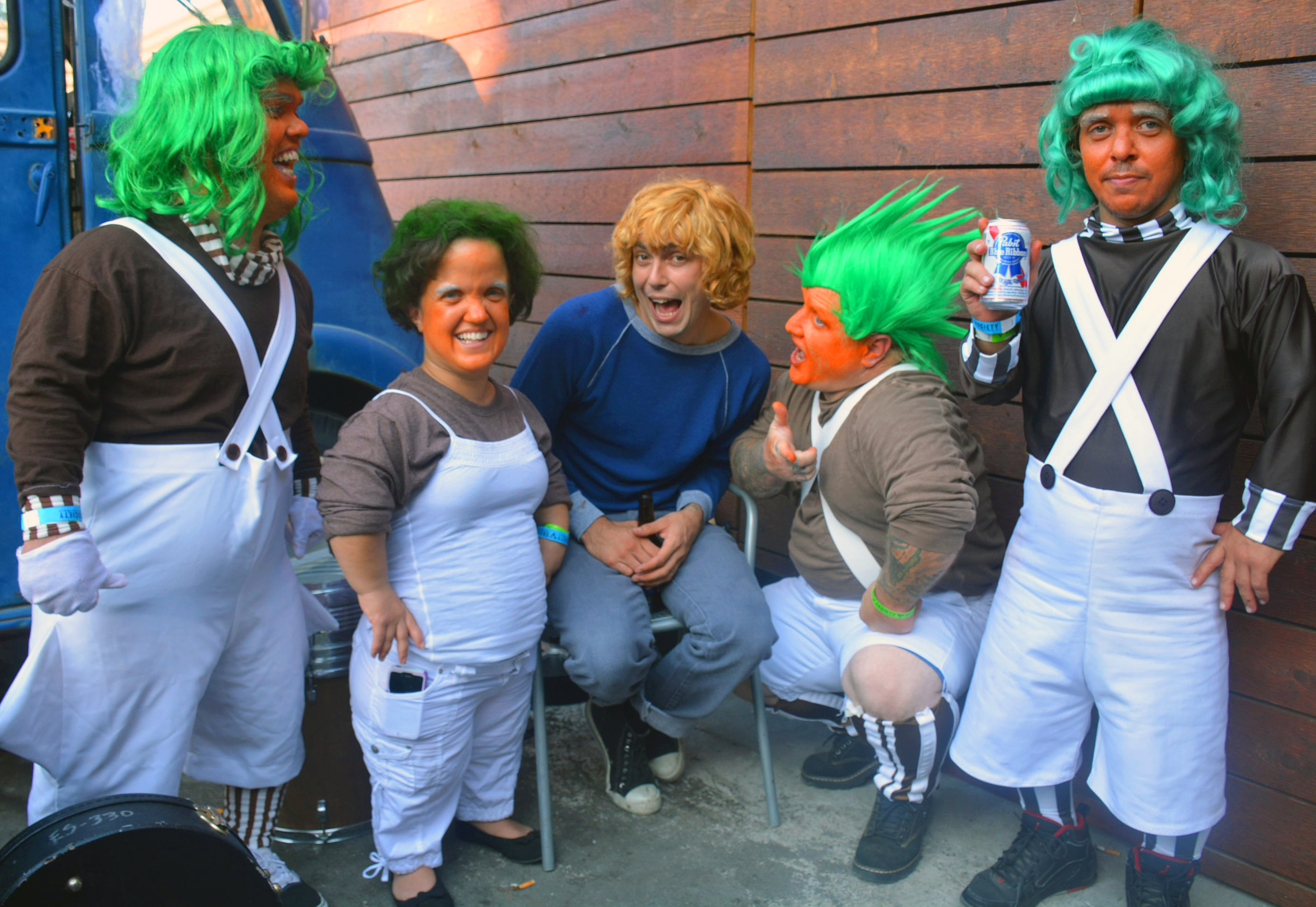 Brooks with Oompa Loompas // Photo by Samuel Perez