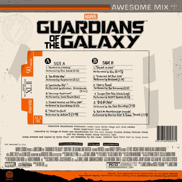 gotgvinyl2 640 Guardians of the Galaxy soundtrack to be released as incredible deluxe vinyl edition