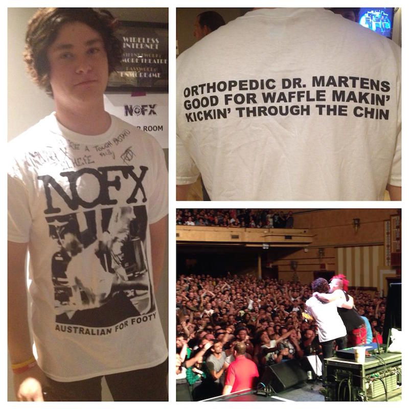 NOFX tshirt for Alex Medak fan