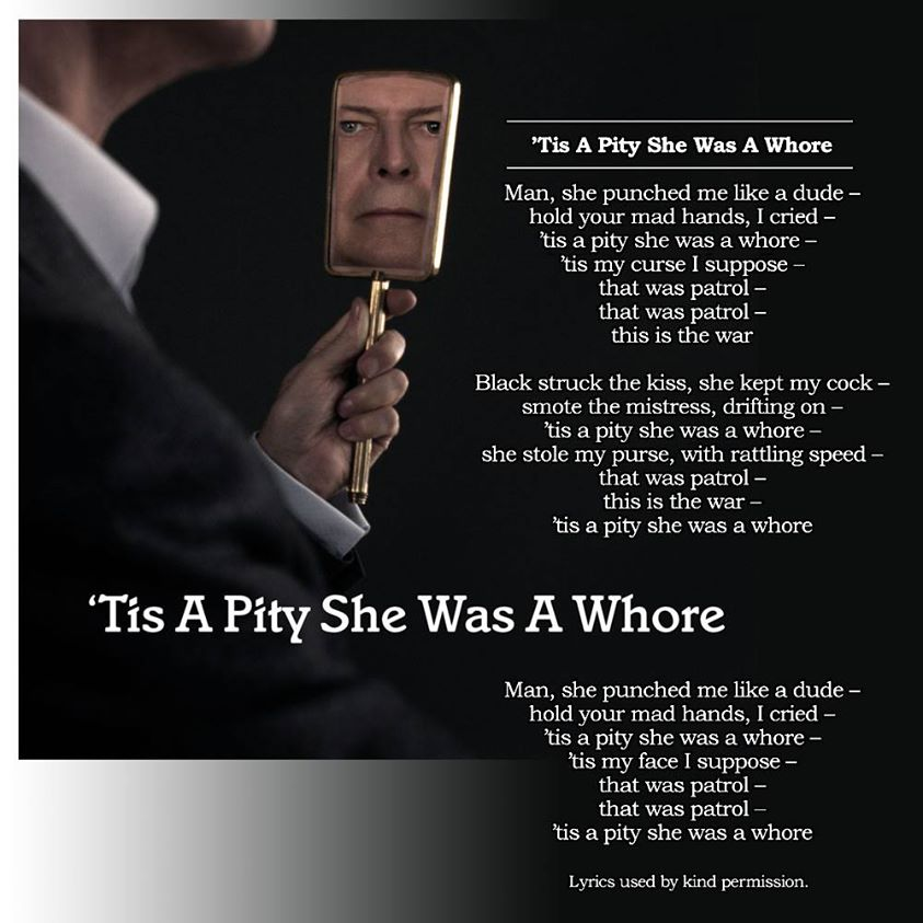 david bowie pity she was a whore artwork