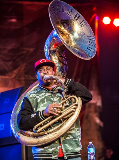 Rebirth Brass Band // Photo by David Brendan Hall