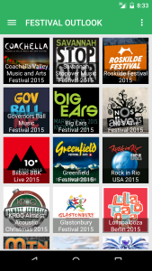 festival outlook screen Festival Outlook Screen