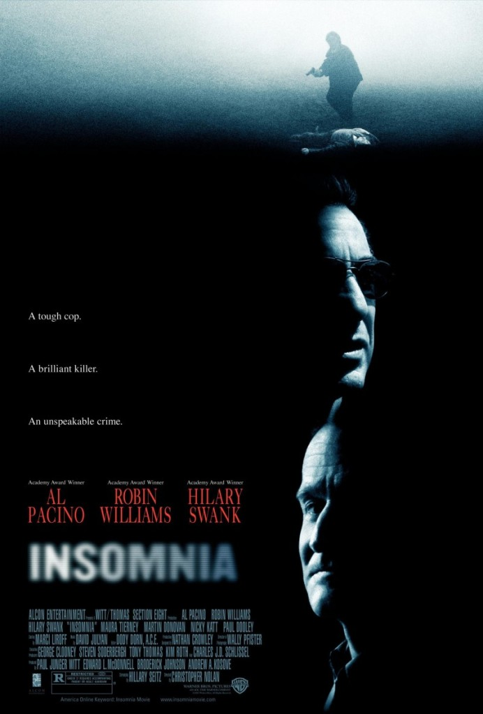 insomnia poster Ranking: Every Christopher Nolan Movie from Worst to Best