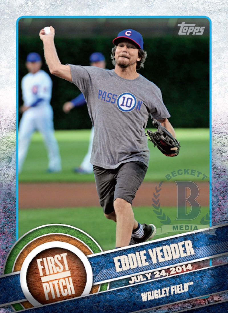 eddieveddercard Jack White and Eddie Vedder featured on Topps baseball cards
