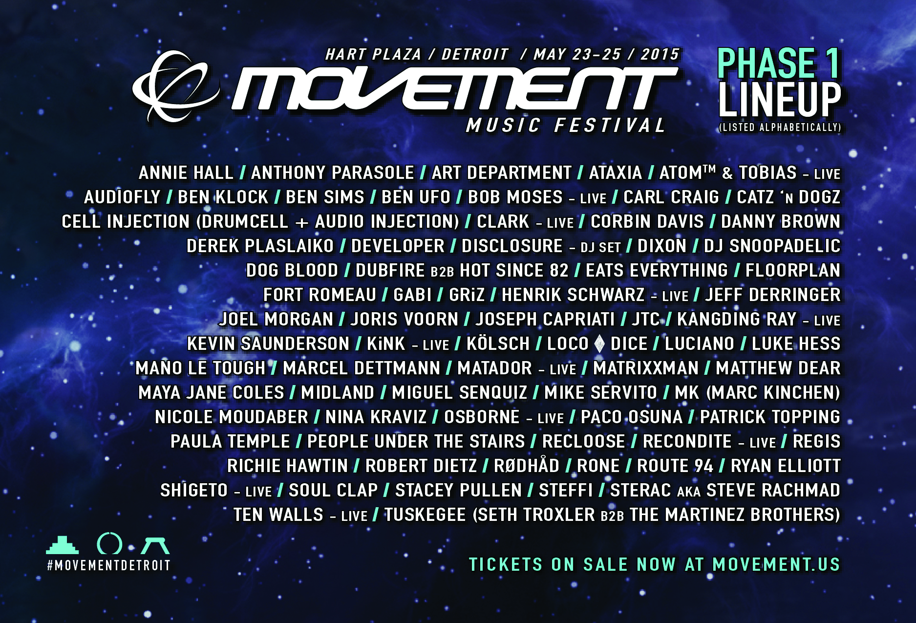 Movement 2015 lineup