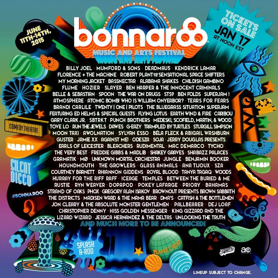poster1 Bonnaroo announces 2015 lineup