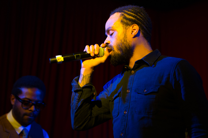 Adrian Young and Bilal // Photo by Philip Cosores