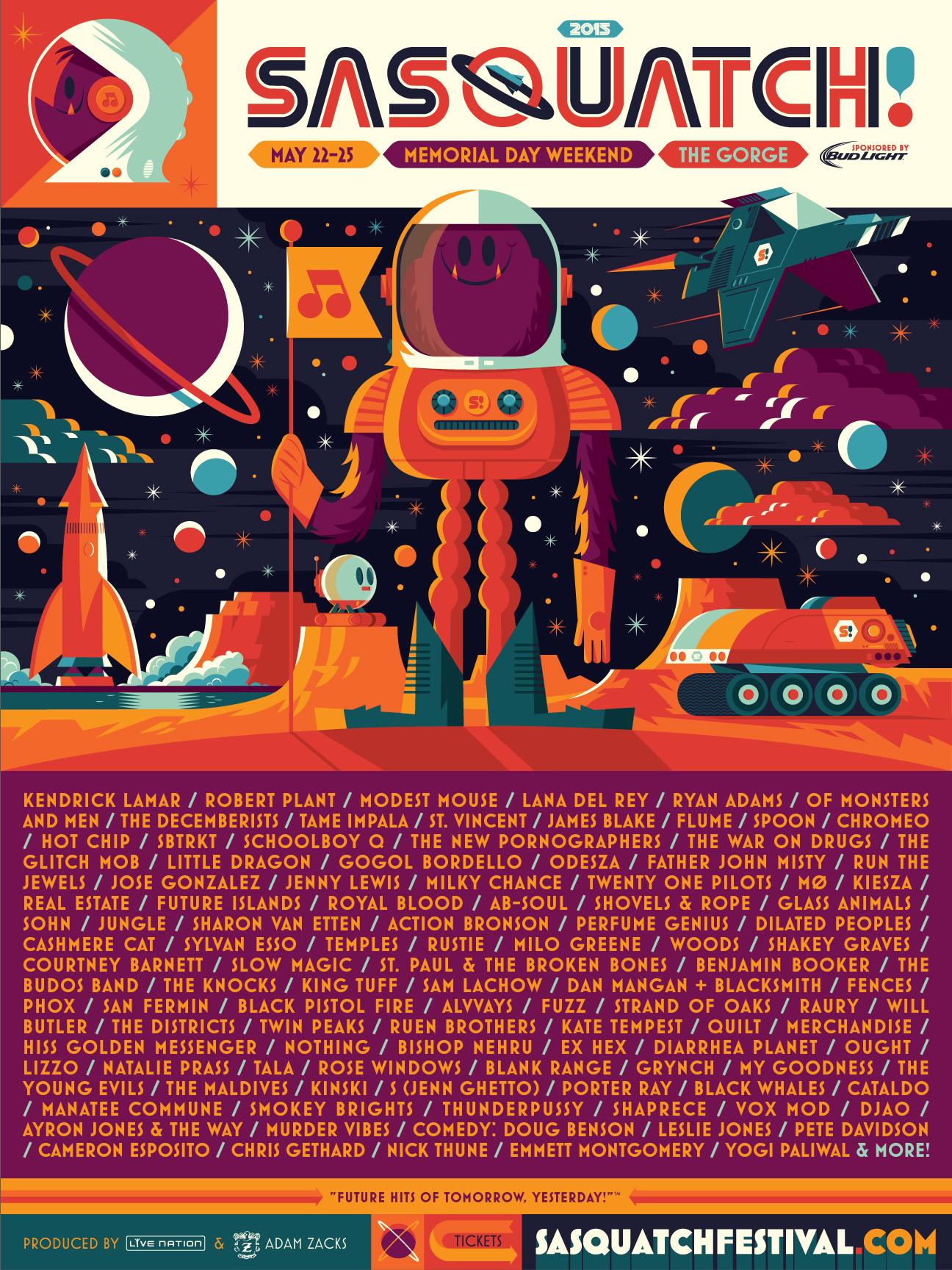 sasquatch2015 Top 10 Music Festivals in North America: Winter 2015 Power Rankings