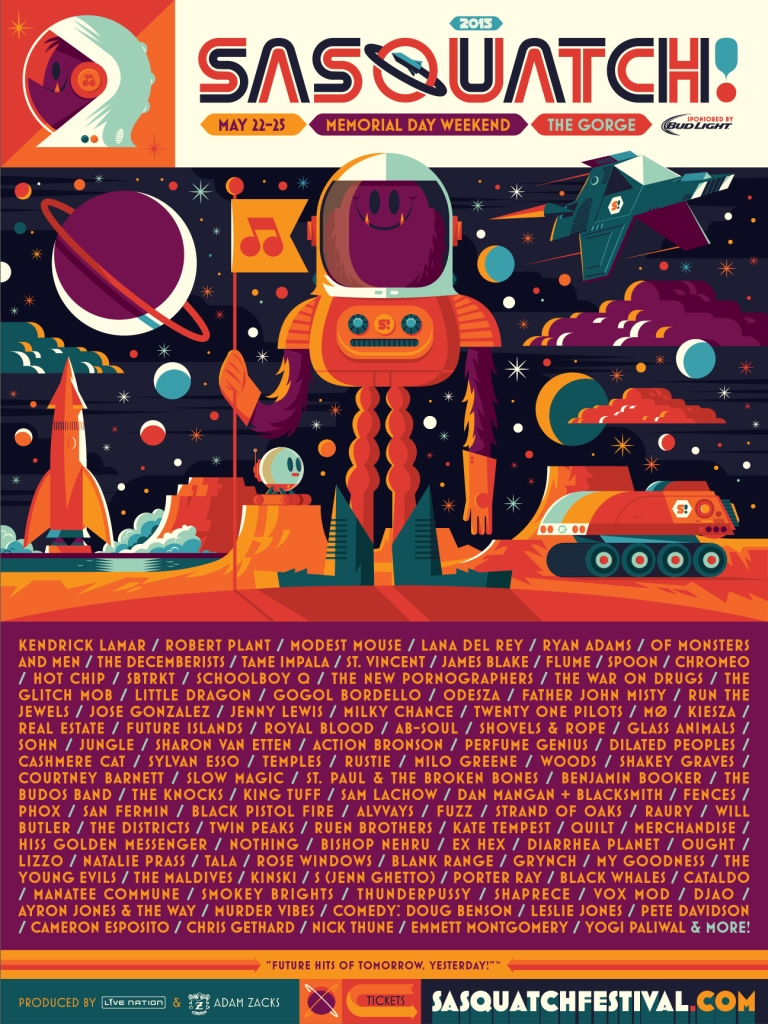 sasquatch2015 Top 10 Music Festivals and Headliners in North America: Summer 2015 Power Rankings