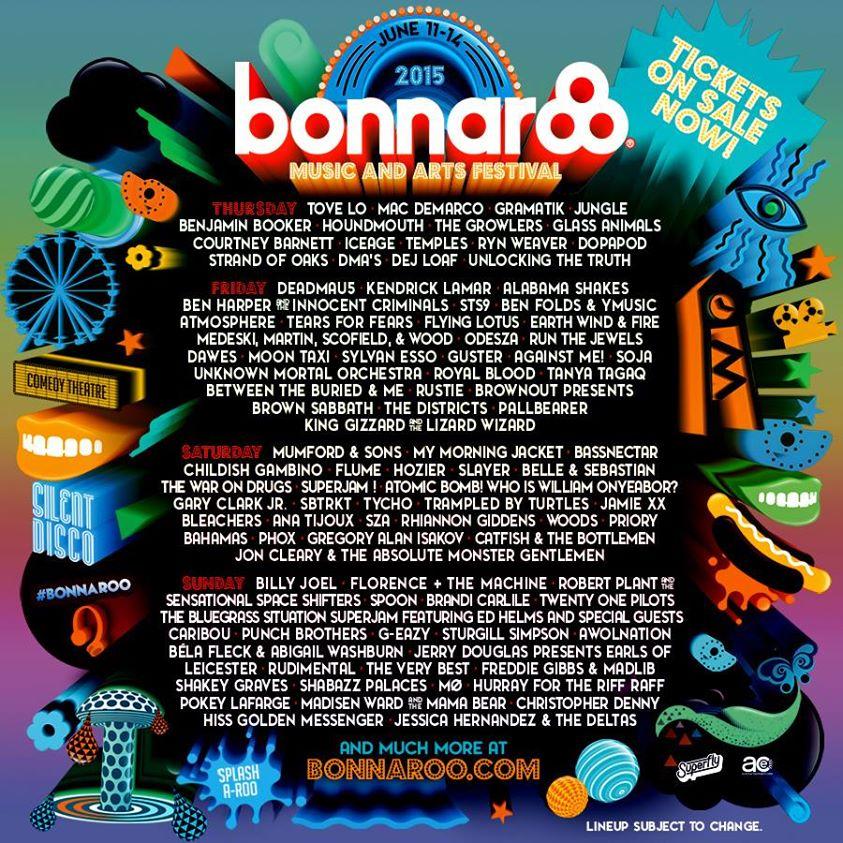 bonnaroo daily lineup