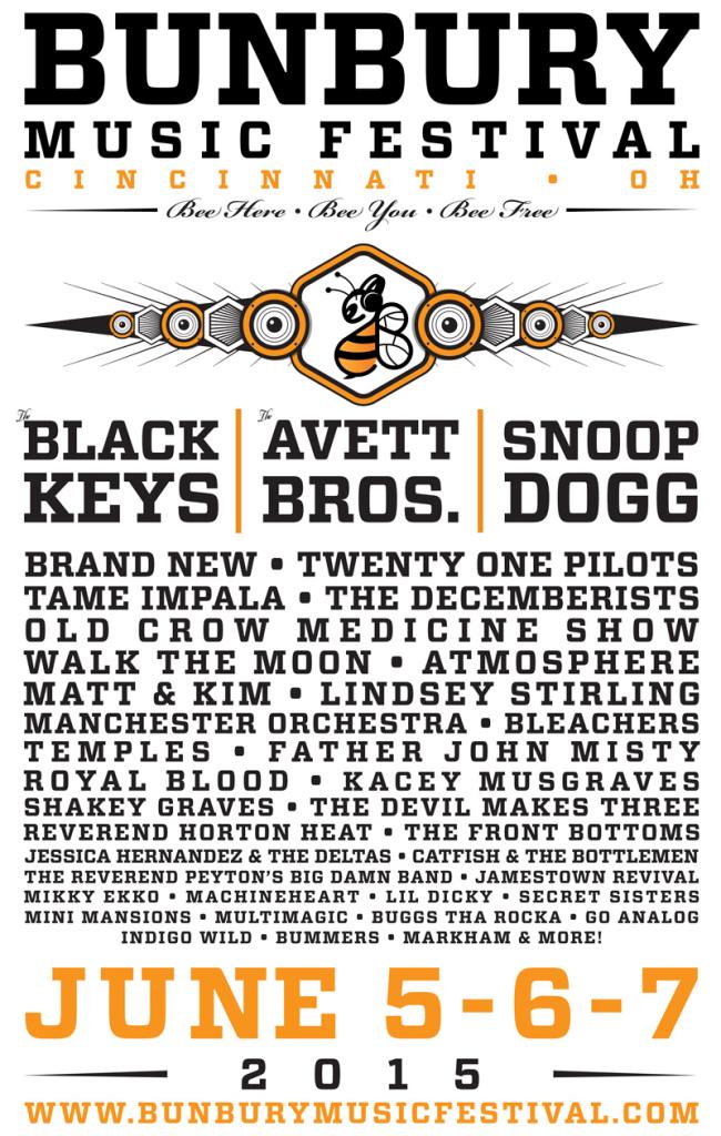 bunbury 2015 flyer web Win tickets to Bunbury Music Festival 2015