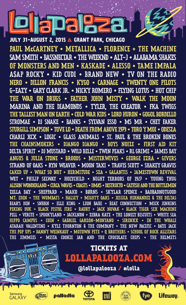 lolla 2015 poster