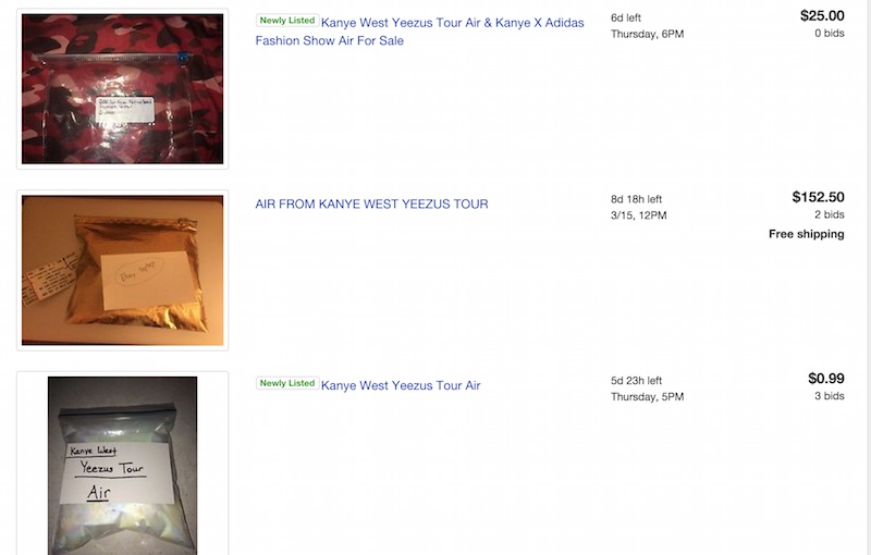 Kanye West - Yeezus Concert Air Bag Sale
