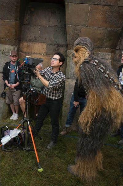 Chewbacca and JJ Abrams