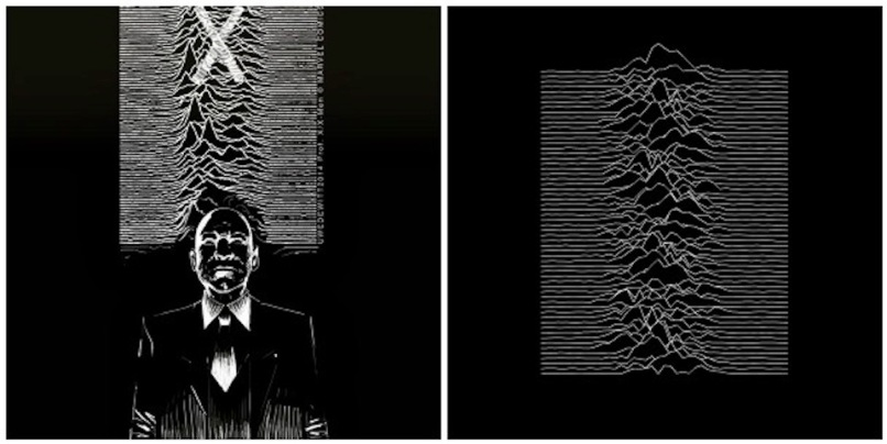 prof x joy division Artist reimagines classic album covers with comic book heroes and villains