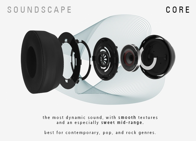 core These customizable headphones are designed for different music genres