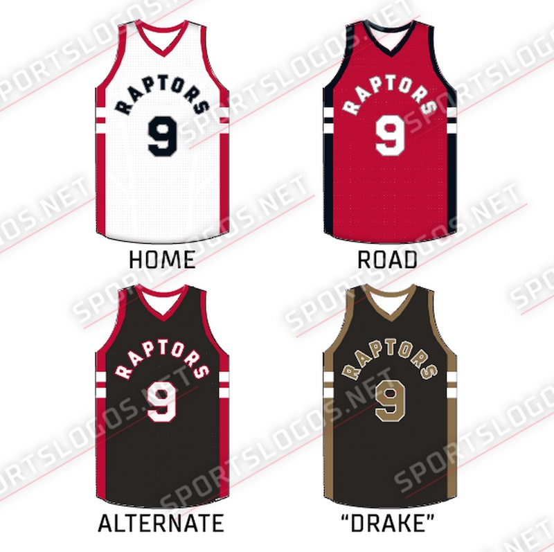 hot sale online 7753c d10d1 Toronto Raptors introduce new Drake-inspired jerseys ...