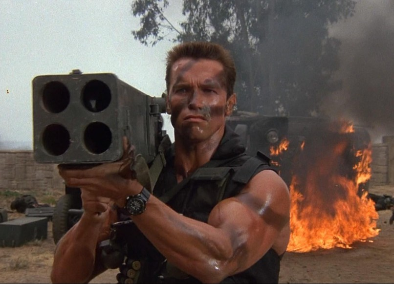 arnold schwarzenegger commando e1435534830801 Arnold Schwarzeneggers Top 10 Performances