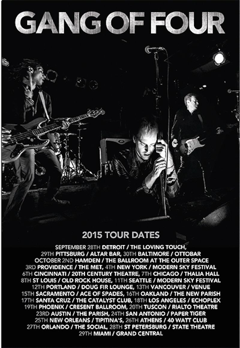 Gang of Four tour dates