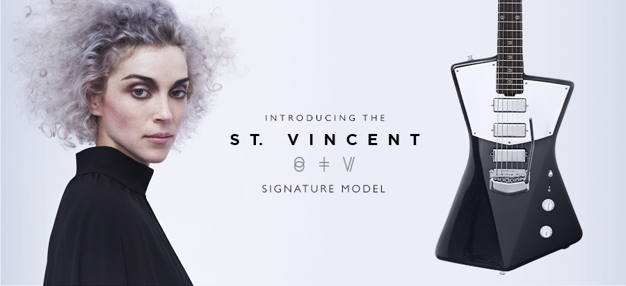 1 stv hero St. Vincent designed her own guitar and its sleek as hell