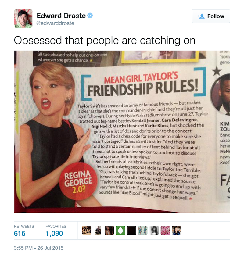 1st ed droste taylor swift twitter Grizzly Bears Ed Droste quits Twitter after being harassed by Taylor Swift fans