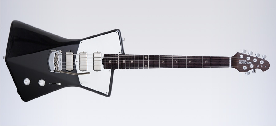 2 stv black front St. Vincent designed her own guitar and its sleek as hell