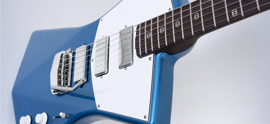 7 stv blue angle St. Vincent designed her own guitar and its sleek as hell