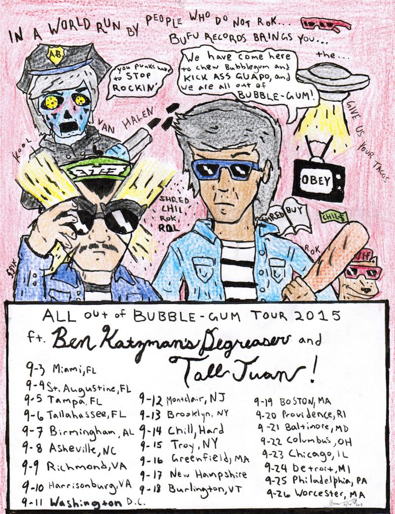 Ben Katzman's DeGreaser tour poster