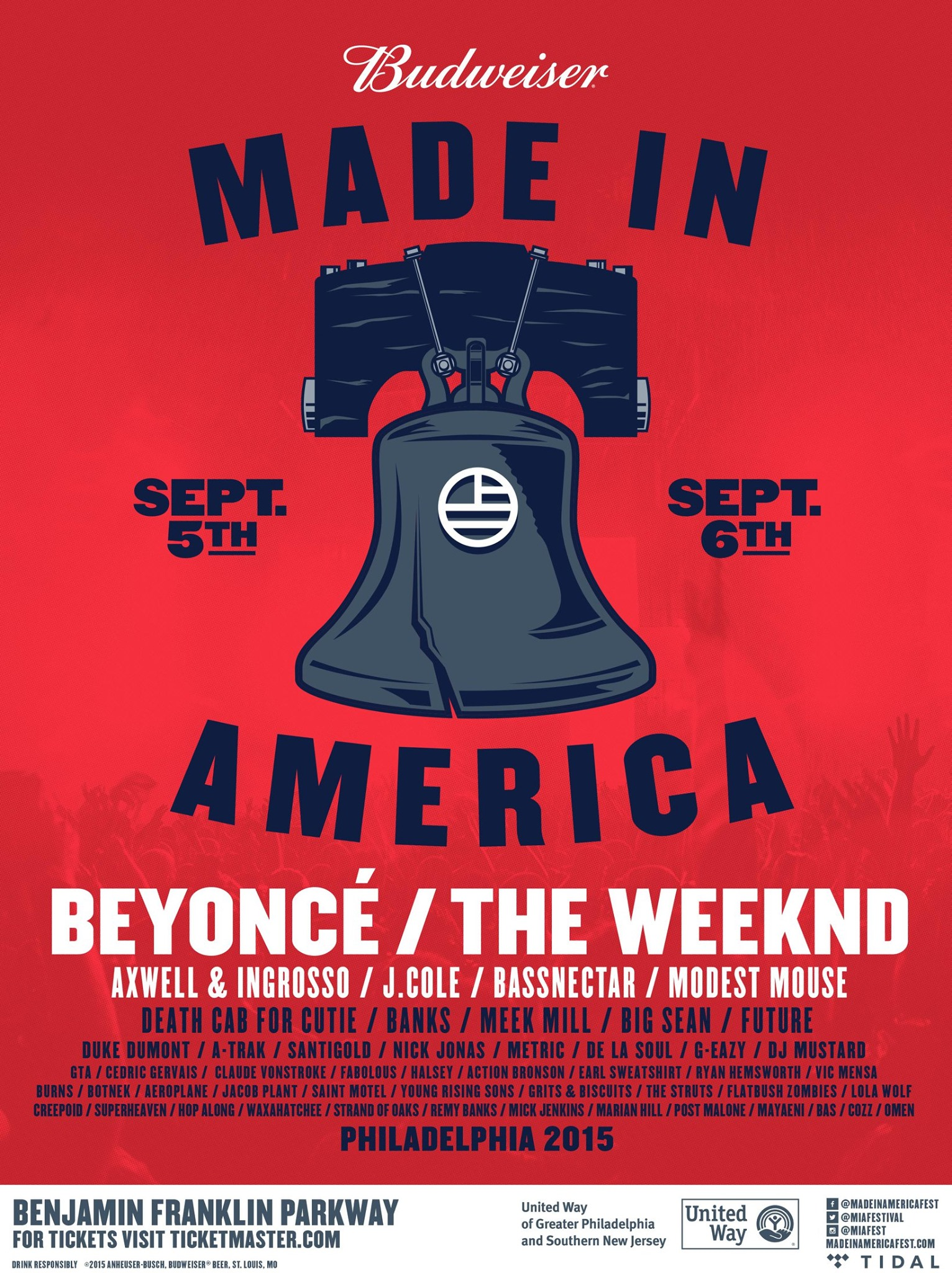 made in america 2015 Top 10 Music Festivals and Headliners in North America: Summer 2015 Power Rankings