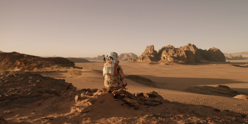 the martian sitting