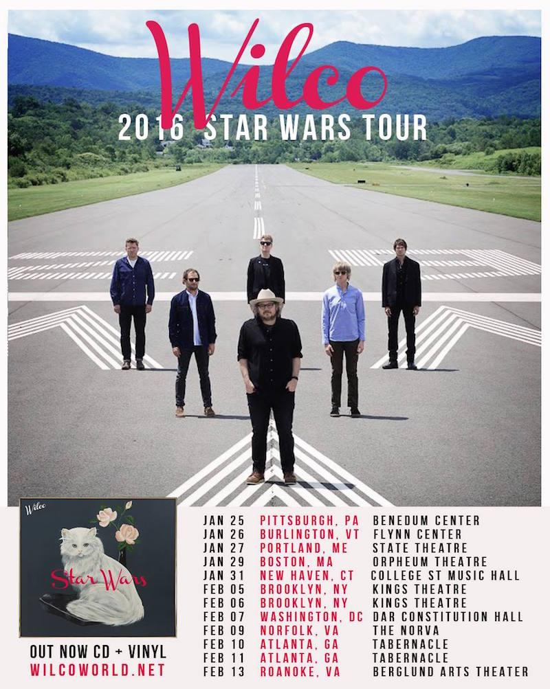 wilco tour dates 2015 Wilco announces US tour for early 2016