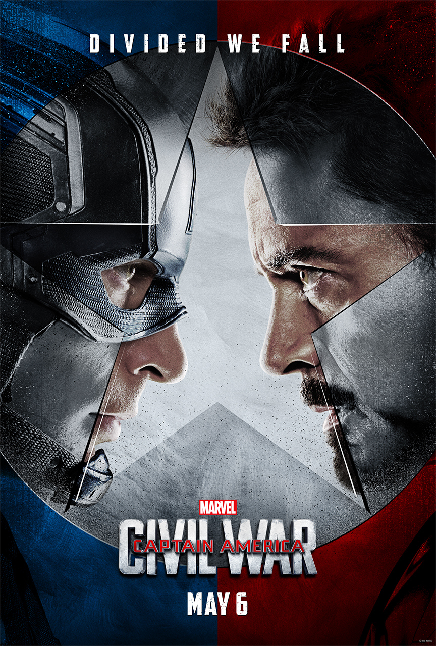 captain american teaser 1 sheet faceoff v3 sm Tony Stark and Steve Rogers duke it out in trailer for Captain America: Civil War    watch
