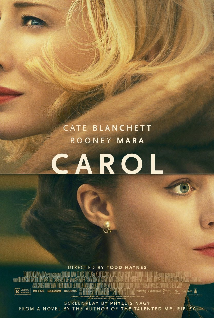 carol poster Top 25 Films of 2015
