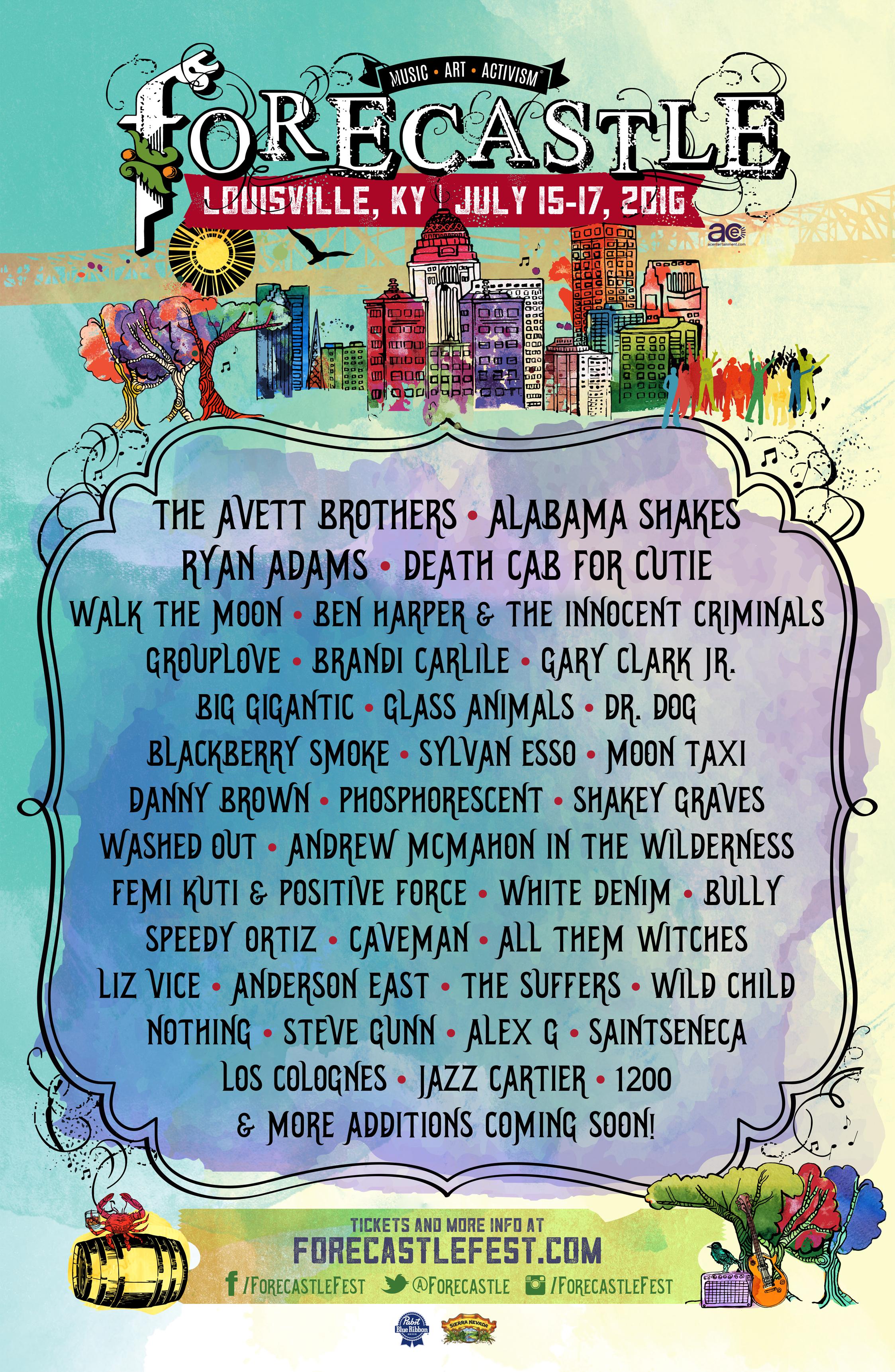 fc16 poster Forecastle Festival reveals 2016 lineup